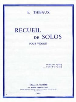 Recueil de Solos, cahier n° 2 E. Thibaux Partition laflutedepan