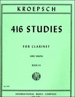 Fritz Kroepsch - 416 Studies - Volume 3 - Partition - di-arezzo.com