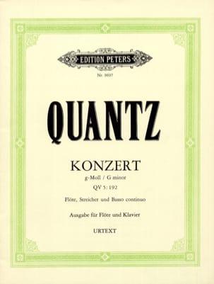 Konzert g-moll QV 5: 193 - Flöte Klavier QUANTZ Partition laflutedepan