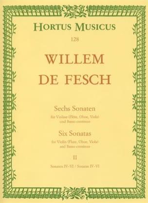 6 Sonates, Volume 2 4 à 6 - Willem de Fesch - laflutedepan.com