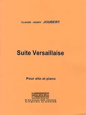 Suite Versaillaise Claude-Henry Joubert Partition Alto - laflutedepan