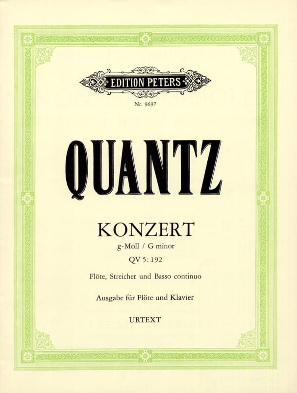 Konzert g-moll QV 5: 193 - Flöte Klavier - QUANTZ - laflutedepan.com