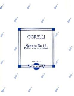 Sonata n° 12 CORELLI Partition Alto - laflutedepan