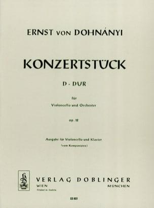 Konzertstück D-Dur op. 12 - Cello Klavier DONHANYI laflutedepan