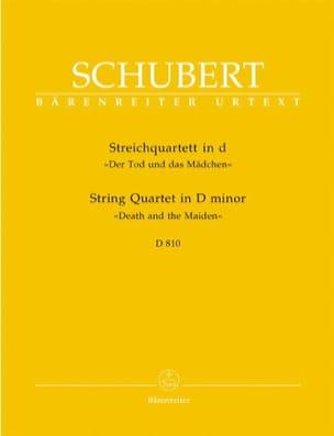 Quatuor à cordes La jeune fille et la mort ré mineur D 810 -Parties laflutedepan