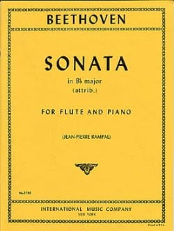 Sonata in Bb major - Flute piano BEETHOVEN Partition laflutedepan