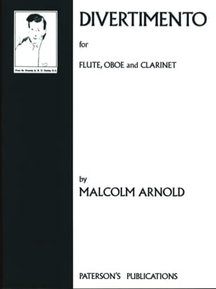 Divertimento -Flute oboe clarinet Malcolm Arnold laflutedepan