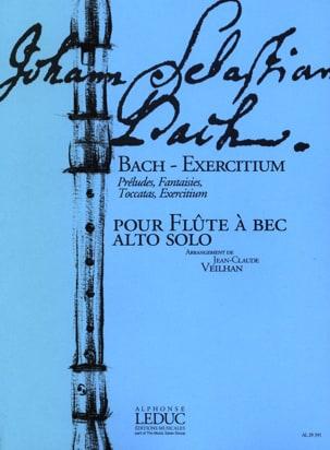 Bach - Exercitium - Flûte à bec alto BACH Partition laflutedepan