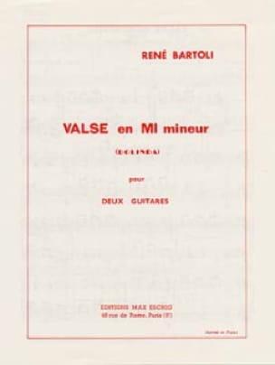Valse en mi mineur - René Bartoli - Partition - laflutedepan.com