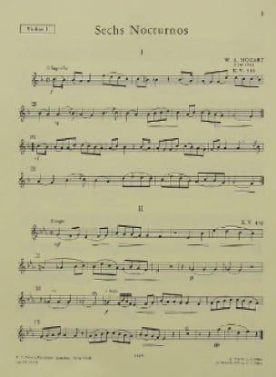 6 Nocturnes KV 346 -Set - MOZART - Partition - laflutedepan.com