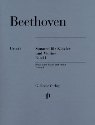 Sonates pour violon, volume 1 BEETHOVEN Partition laflutedepan