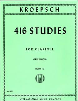 Fritz Kroepsch - 416 Studies - Volume 4 - Partition - di-arezzo.com