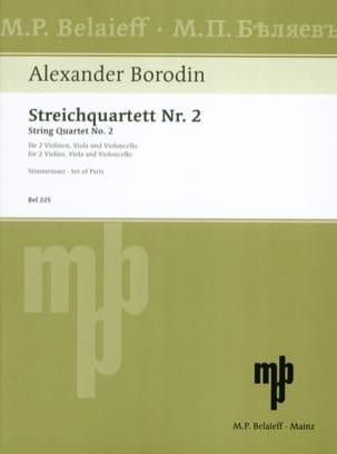 Streichquartett Nr. 2 D-dur -Stimmen BORODINE Partition laflutedepan