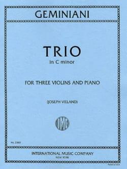 Trio in C minor -3 Violins piano - Parts - laflutedepan.com