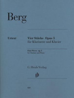 Quatre pièces op. 5 pour clarinette et piano BERG laflutedepan