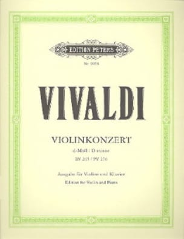 Violin-Konzert d-Moll - RV 245, PV 276 - VIVALDI - laflutedepan.com
