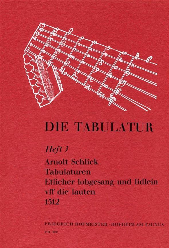 Tabulaturen Etlicher lobgesang und lidlein vff dire lauten -Heft 3 - laflutedepan.com