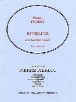 Interlude Pascal Proust Partition Hautbois - laflutedepan