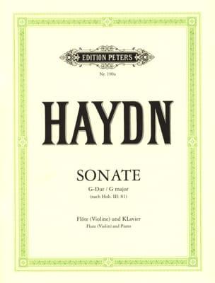 Sonate G-Dur nach Hob. 3 : 81 - Flöte Violine und Klavier laflutedepan