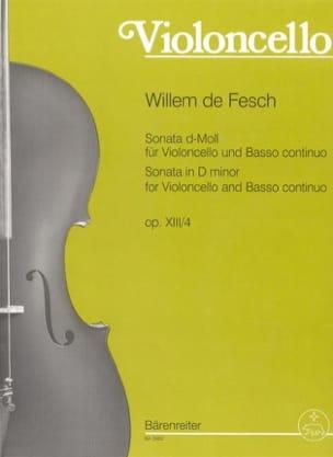Sonate op. 13 n° 4, ré mineur Willem de Fesch Partition laflutedepan