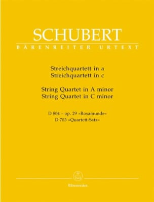 Streichquartette a-moll D 804 op. 29 / c-moll D 703 -Stimmen laflutedepan