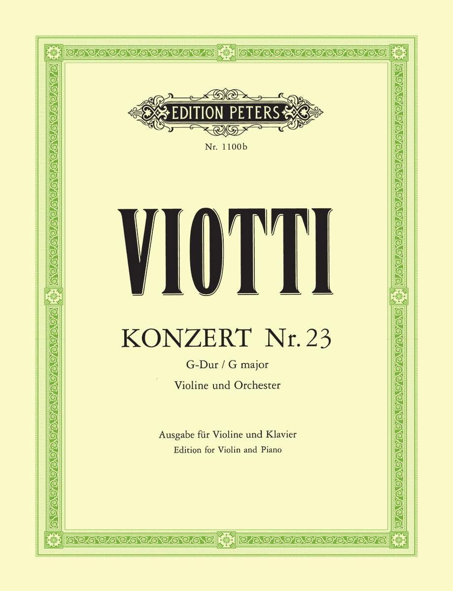 Concerto Violon n° 23 sol majeur - VIOTTI - laflutedepan.com