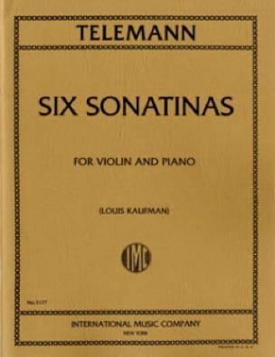 6 Sonatines - TELEMANN - Partition - Violon - laflutedepan.com