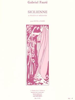 Sicilienne Op. 78 FAURÉ Partition Flûte traversière - laflutedepan