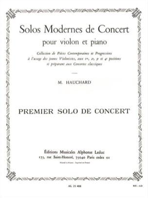 Solo de Concert n° 1 Maurice Hauchard Partition Violon - laflutedepan