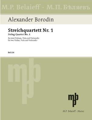 Streichquartett Nr.1 A-Dur -Stimmen BORODINE Partition laflutedepan