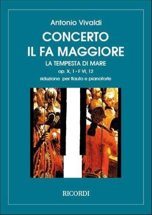 Concerto en Fa Maj. La Tempesta di Mare - F. 6 n° 12 - Flûte/Piano laflutedepan