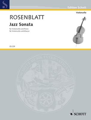 Jazz Sonata Alexander Rosenblatt Partition Violoncelle - laflutedepan