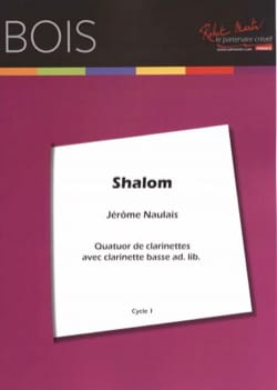 Shalom - 4 Clarinettes Traditionnel Partition laflutedepan