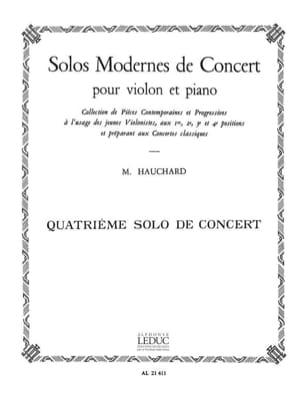 Solo de Concert n° 4 Maurice Hauchard Partition Violon - laflutedepan