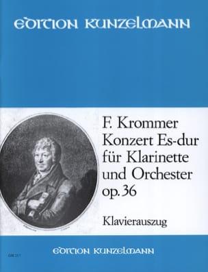 Concerto Op. 36 en Mib Majeur KROMMER Partition laflutedepan