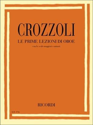 Le prime lezzioni di oboe Sergio Crozzoli Partition laflutedepan