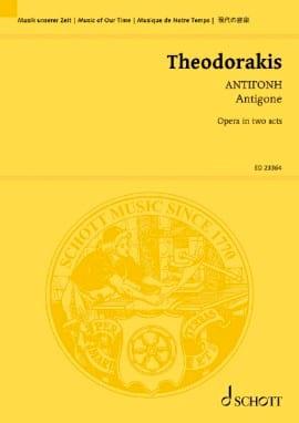 Antigone THEODORAKIS Partition Grand format - laflutedepan