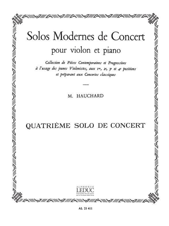 Solo de Concert n° 4 - Maurice Hauchard - laflutedepan.com