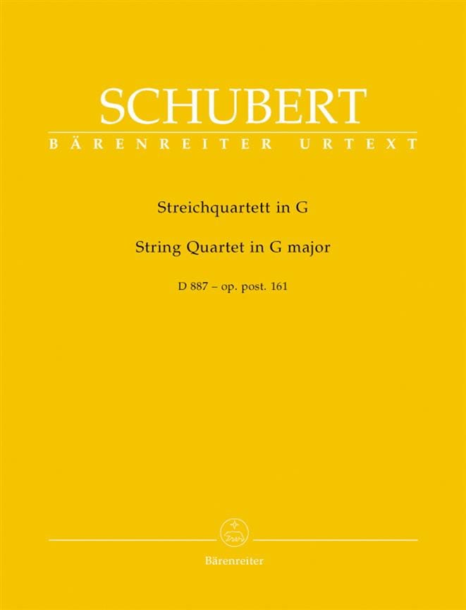 Streichquartett D 887 G-Dur -Stimmen - SCHUBERT - laflutedepan.com