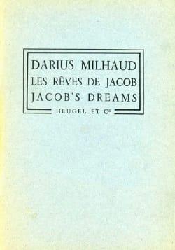 Les Rêves de Jacob - Partition + Parties MILHAUD laflutedepan