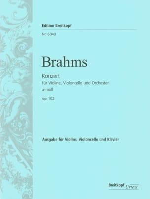 Doppelkonzert a-moll op. 102 -Vl Vc Kl BRAHMS Partition laflutedepan