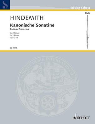 Kanonische Sonatine op. 31 n° 3 - 2 Flöten HINDEMITH laflutedepan