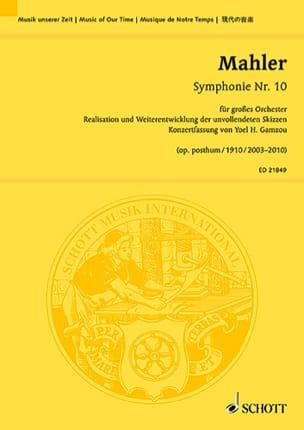 Symphonie n° 10 - Conducteur MAHLER Partition laflutedepan