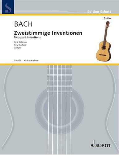Sämtliche Zweistimmige Inventionen Bwv 772-786 - 2 Guitares - laflutedepan.com
