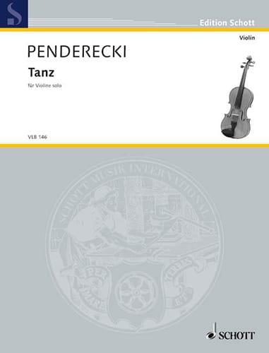 Tanz - PENDERECKI - Partition - Violon - laflutedepan.com
