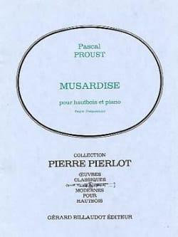 Musardise Pascal Proust Partition Hautbois - laflutedepan