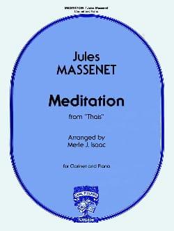 Méditation de Thaïs - Clarinette MASSENET Partition laflutedepan