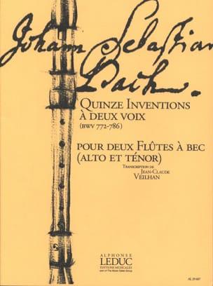 Quinze inventions a deux voix BWV 772-786 - laflutedepan.com