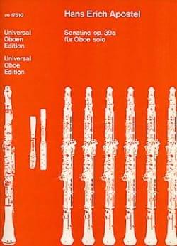 Sonatine für Oboe solo op. 39a Hans Erich Apostel laflutedepan