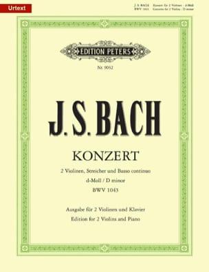 Konzert BWV 1043 -2 Violinen Klavier BACH Partition laflutedepan
